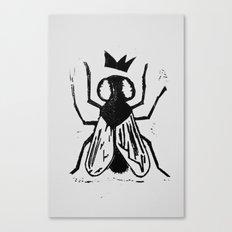Fly Linocut Canvas Print
