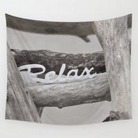 relax Wall Tapestries featuring Relax by LebensART Photography