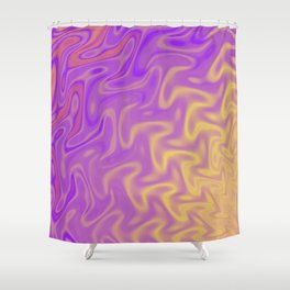 Ripples Fractal in Tropical Punch Shower Curtain
