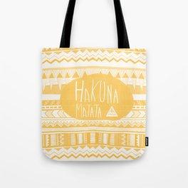 Hakuna Matata tribal navajo yellow Tote Bag