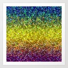 Glitter Graphic Background G107 Art Print