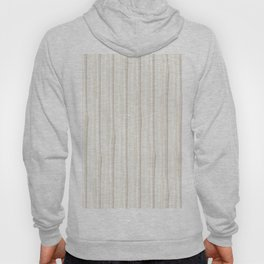 Creamy Off White SW7012 Vertical Grunge Abstract Line Pattern Hoody