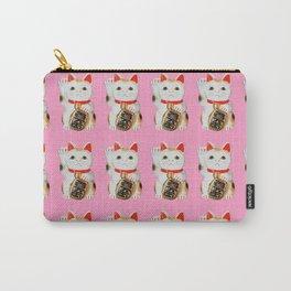 MANEKINEKO CAT PINK PATTERN Carry-All Pouch