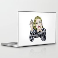 kate moss Laptop & iPad Skins featuring Kate  by AlexandraHallock