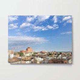 Baltimore City skyline with Natty Boh sign Metal Print