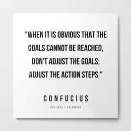7   | Confucius Quotes | 200202 Metal Print