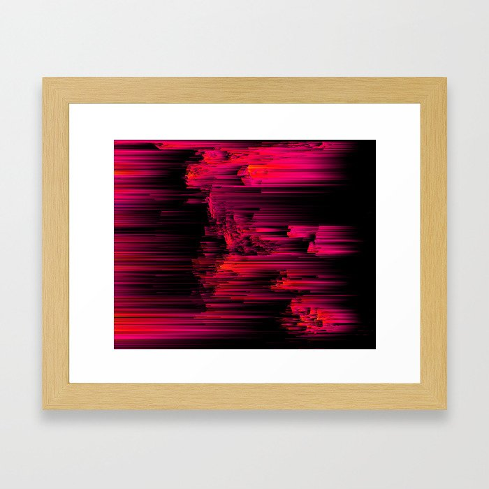 Burnout - Glitch Abstract Pixel Art Framed Art Print