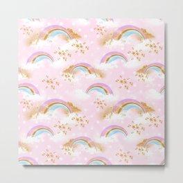 Beautiful Rainbow Pattern Metal Print