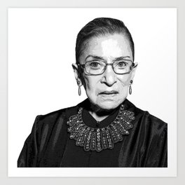 Ruth Bader Ginsburg Dissent Collar RBG Art Print
