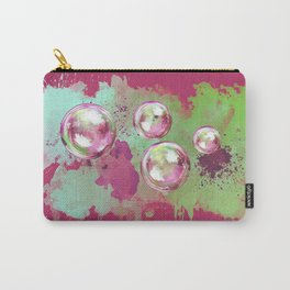 Soap bubbles in the sky watercolor painting Carry-All Pouch