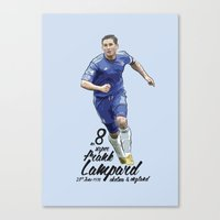 chelsea fc Canvas Prints featuring Frank Lampard - Chelsea FC Print by KieranCarrollDesign