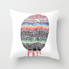 Chill Skeleton Throw Pillow