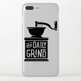 daily grind Clear iPhone Case