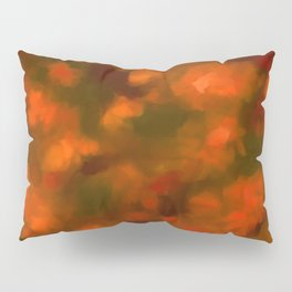 Red, Orange Floral Abstract Pillow Sham
