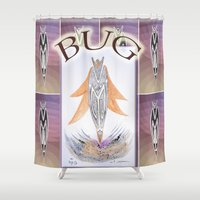 bug Shower Curtains featuring BUG by CrismanArt