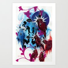 Dapper Birds Art Print