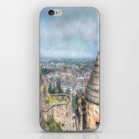 edinburgh iPhone & iPod Skins featuring Edinburgh Castle by Christine Workman