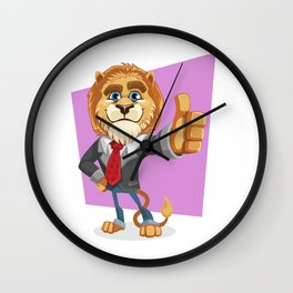 Classy Old Lion Wall Clock