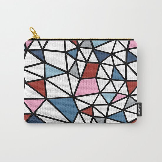 Segment Pink and Blue Carry-All Pouch