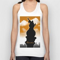 barcelona Tank Tops featuring Barcelona  by WIGEGA