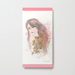 Never Not A Lovely Girl Metal Print