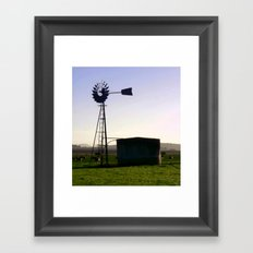 Early morning on the Farm Framed Art Print