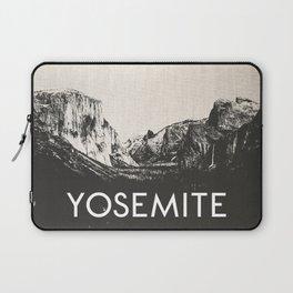 Yosemite National Park Black and White Canvas Laptop Sleeve