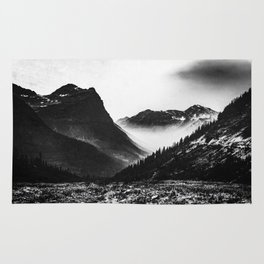 Mountain Valley Glacier National Park Rug