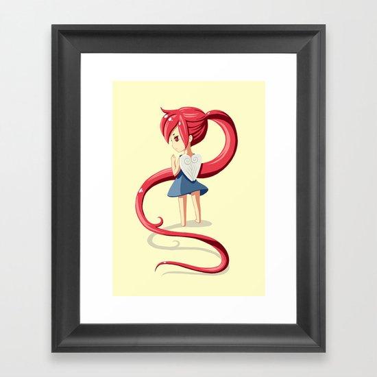 Ponytail Framed Art Print