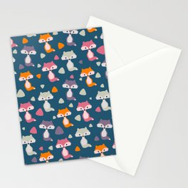 Foxes in many colors Stationery Cards