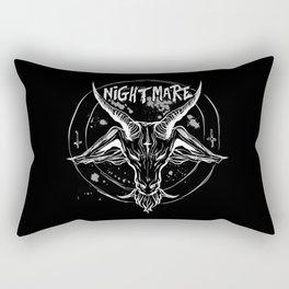 Nightmare : Black Winter King Rectangular Pillow