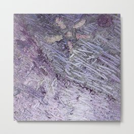 Purple-Starfish Metal Print