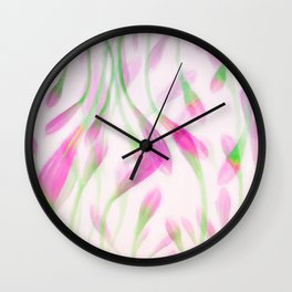 Agapanthus in Pink Wall Clock