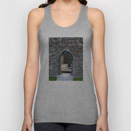 View of Grave Through Door of Irish Ruins v.3 Unisex Tank Top