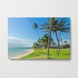 Waipuilani Beach Kihei Maui Hawaii Metal Print