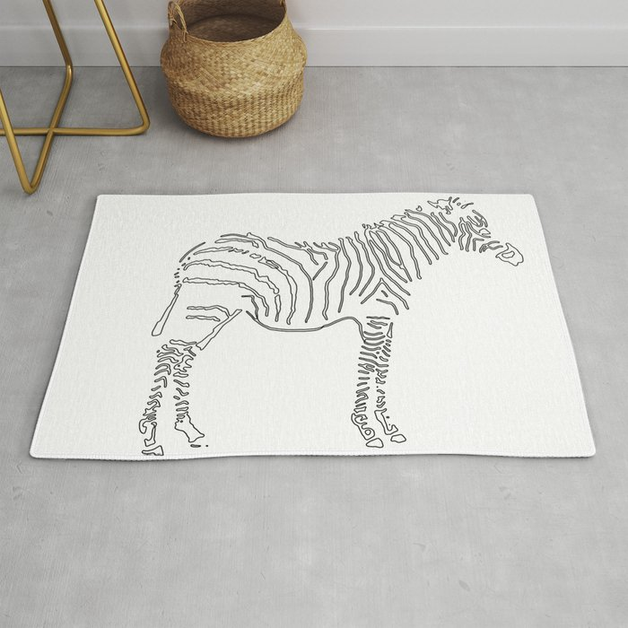 Stunning Black And White Zebra Rug By Jeffkaguri