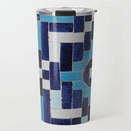 VINTAGE BLUE CERAMIC TILES Travel Mug