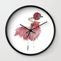 ostrich Wall Clocks featuring Ostrich by Imanol Buisan