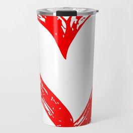 Big red heart 01 Travel Mug