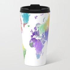 Colorful world map Travel Mug