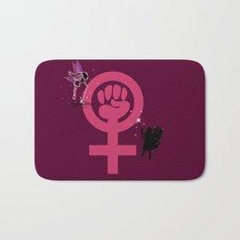 4 Gold Corner Feminist Fairies Bath Mat