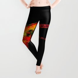 Guitar On Fire By Annie Zeno  Leggings