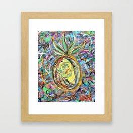 Miami Pineapple Framed Art Print