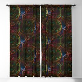 Psycho Gears Fractal Blackout Curtain