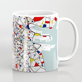 Dublin City Map of Ireland - Mondrian Coffee Mug