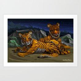 Tigers Art Print