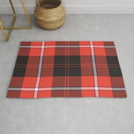 Christmas Green and Red Classical Plaid Tartan Pattern Rug
