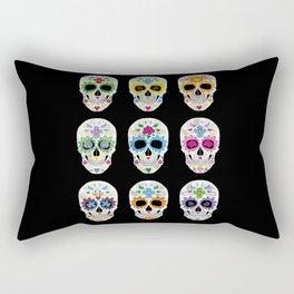 Nine skulls Rectangular Pillow