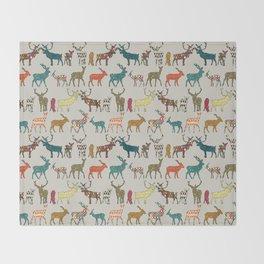 patterned deer stone Throw Blanket