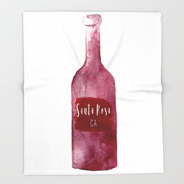 Santa Rosa, CA - Wine Country Love Throw Blanket